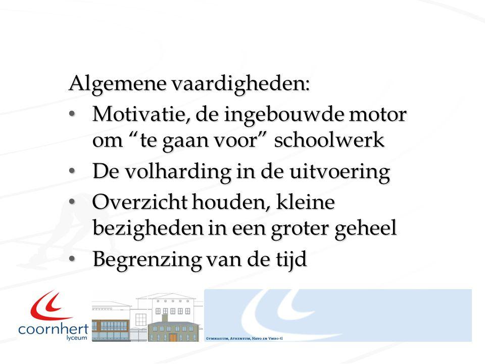 """Algemene vaardigheden: Motivatie, de ingebouwde motor om """"te gaan voor"""" schoolwerk Motivatie, de ingebouwde motor om """"te gaan voor"""" schoolwerk De volh"""