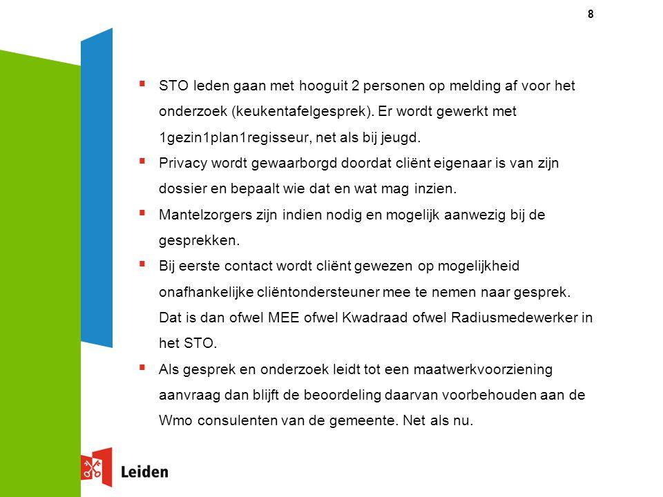 0 tot 100 team Zoeterwoude  Op dit moment is de gemeente in gesprek met partijen (huisartsen, Mee, partijen jeugd teams, Wmo consulent) over de werkwijze.