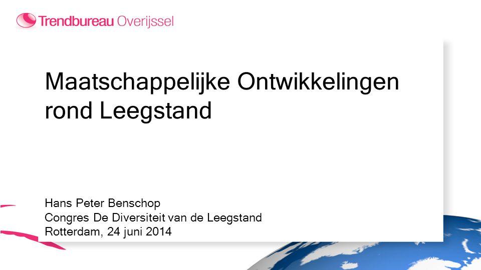Maatschappelijke Ontwikkelingen rond Leegstand Hans Peter Benschop Congres De Diversiteit van de Leegstand Rotterdam, 24 juni 2014