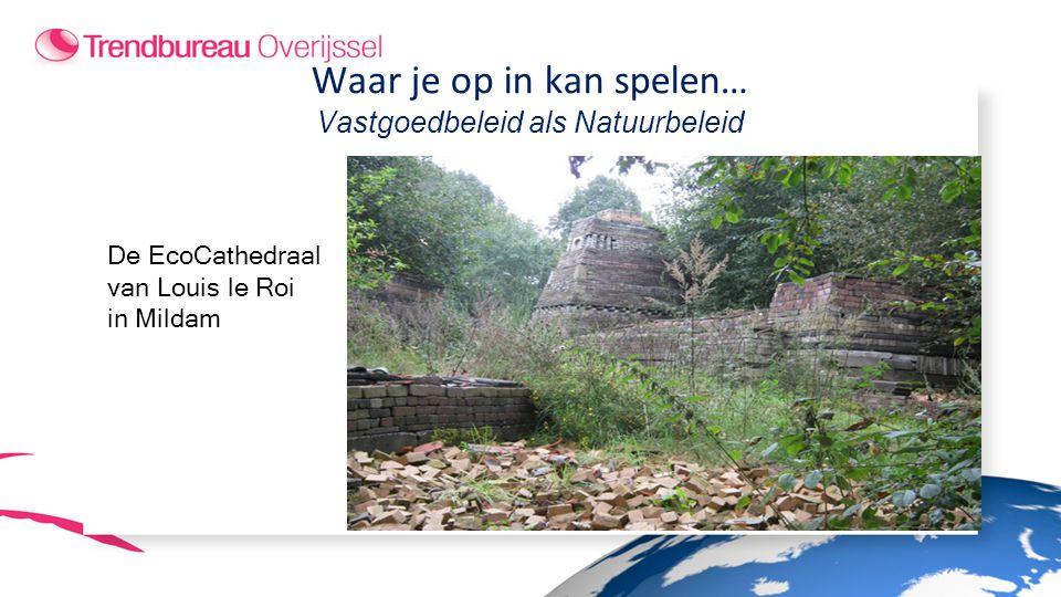 De EcoCathedraal van Louis le Roi in Mildam Waar je op in kan spelen… Vastgoedbeleid als Natuurbeleid