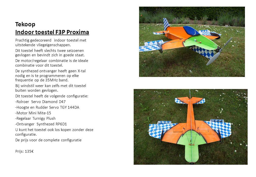 Prachtig gedecoreerd indoor toestel met uitstekende vliegeigenschappen.
