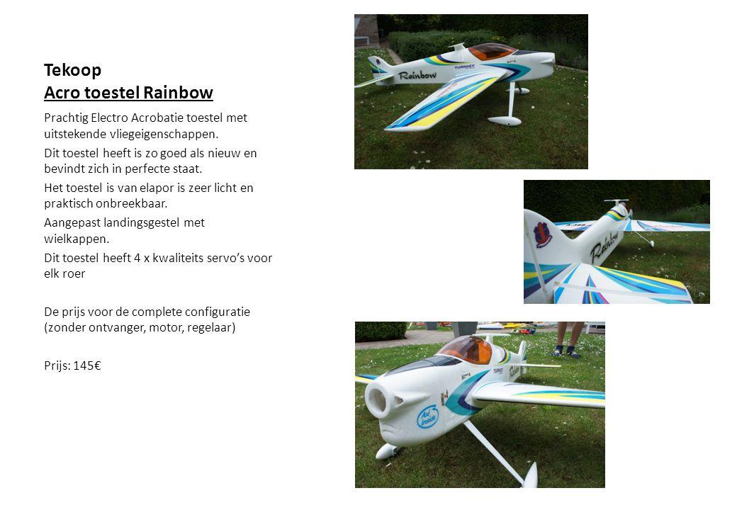 Prachtig Electro Acrobatie toestel met uitstekende vliegeigenschappen.