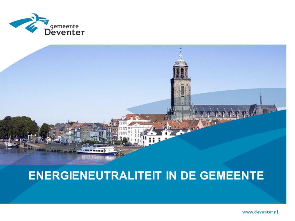 www.energieindeventer.nl LES 7:  Als 50 tot 70 % van het energieverbruik van bedrijven is, stop dan ook net zo veel gemeentelijke aandacht in economie, innovatie, procesverbetering, smart grid, zon op bedrijfsdaken, restwarmte.