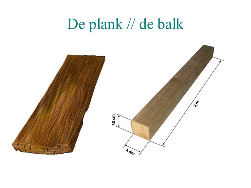 De plank // de balk