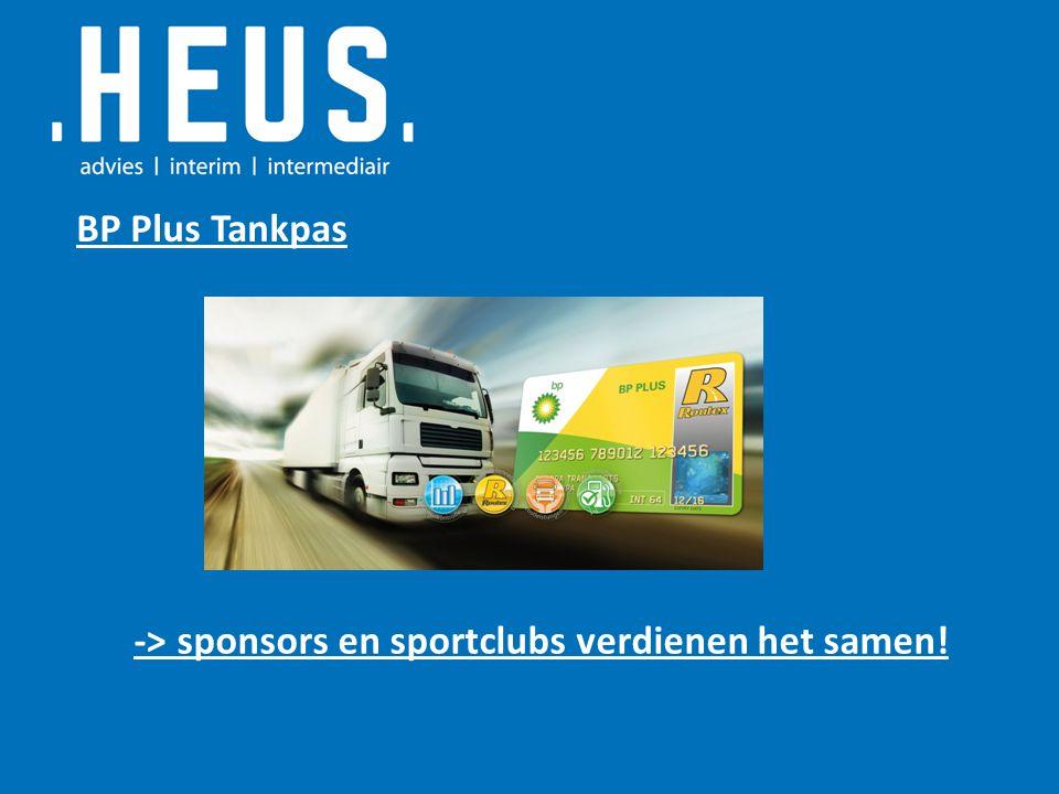 BP Plus Tankpas -> sponsors en sportclubs verdienen het samen!