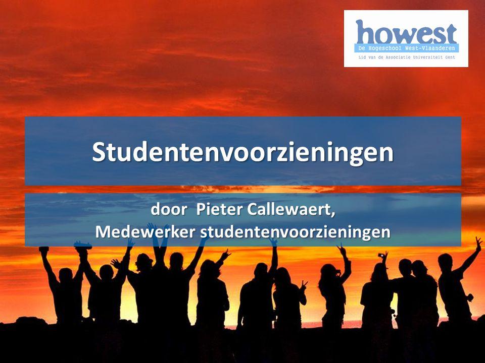 Alle voorgaande info uitgeschreven in het Onderwijs- en examenreglement: www.howest.be/oer www.howest.be/oerOER Studentenvoorzieningen door Pieter Callewaert, Medewerker studentenvoorzieningen