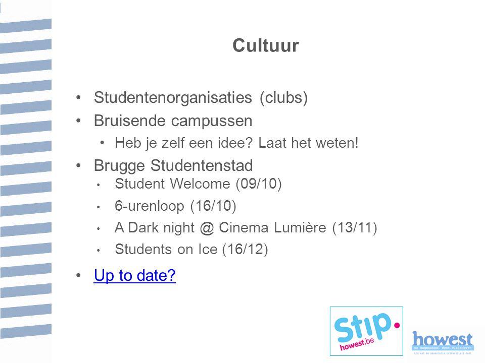 Cultuur Studentenorganisaties (clubs) Bruisende campussen Heb je zelf een idee.