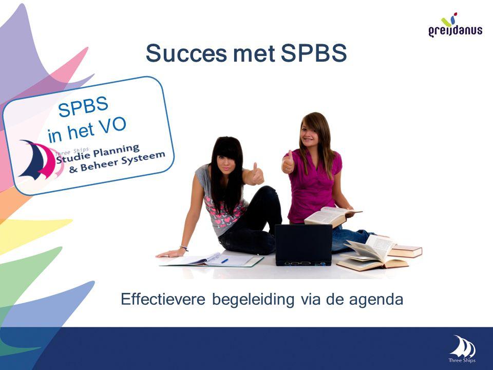 Succes met SPBS Effectievere begeleiding via de agenda SPBS in het VO