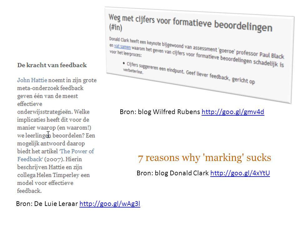 Bron: blog Wilfred Rubens http://goo.gl/gmv4dhttp://goo.gl/gmv4d Bron: blog Donald Clark http://goo.gl/4xYtUhttp://goo.gl/4xYtU Bron: De Luie Leraar h