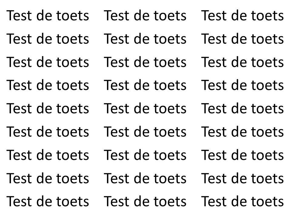 Test de toets