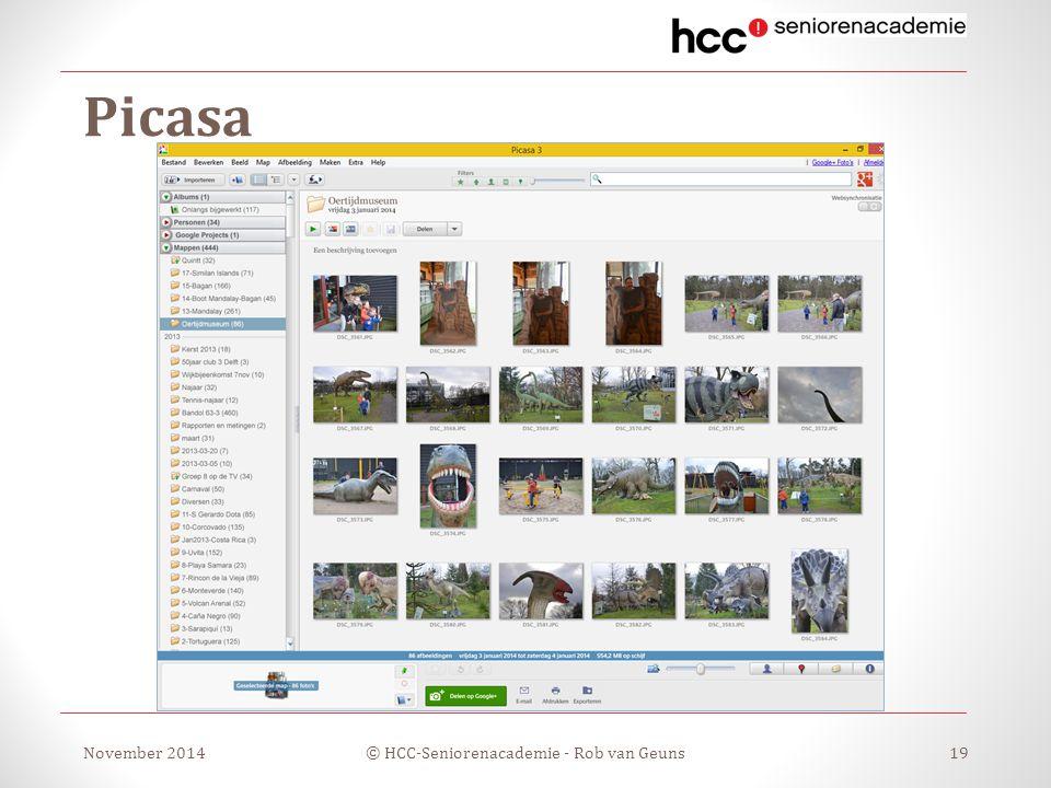 Picasa November 2014© HCC-Seniorenacademie - Rob van Geuns19