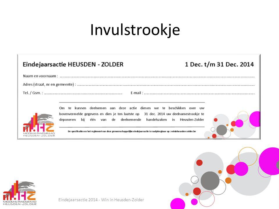 Invulstrookje Eindejaarsactie 2014 - Win in Heusden-Zolder