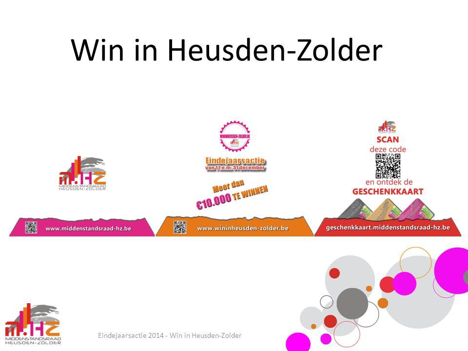 Win in Heusden-Zolder Eindejaarsactie 2014 - Win in Heusden-Zolder