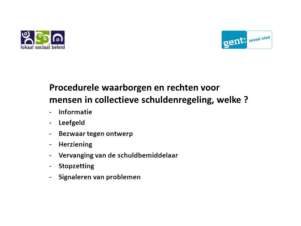 Procedurele waarborgen en rechten voor mensen in collectieve schuldenregeling, welke .