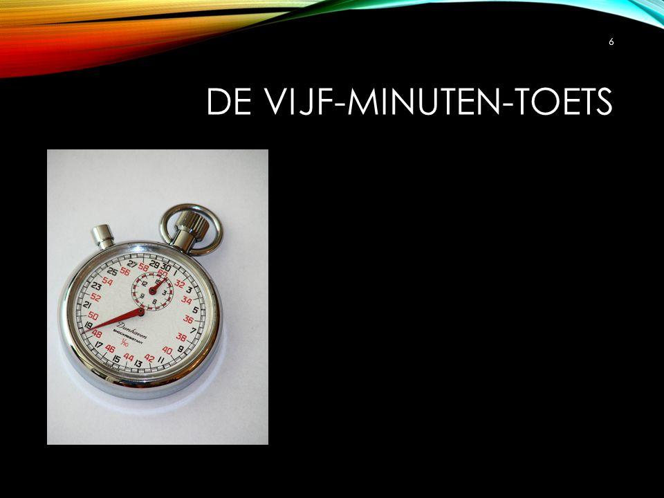 DE VIJF-MINUTEN-TOETS 6