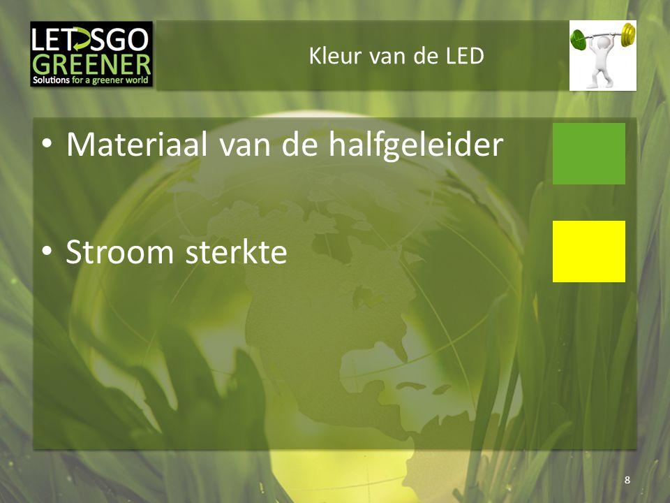 Kleur van de LED Materiaal van de halfgeleider Stroom sterkte 8