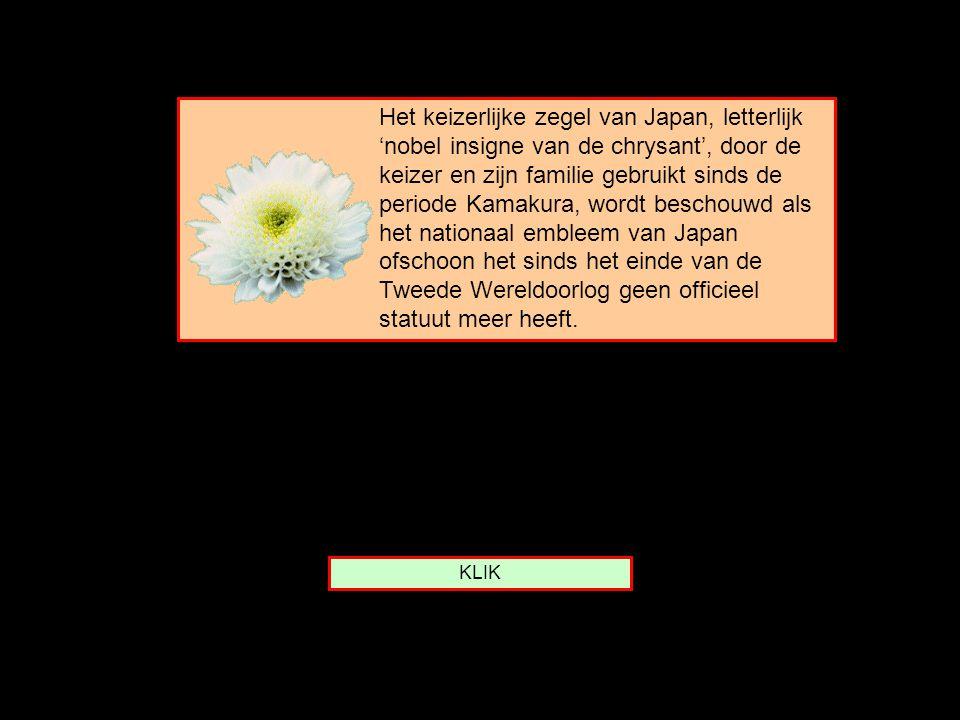 Van welk land is de CHRYSANT het embleem ? Italië Japan Tibet