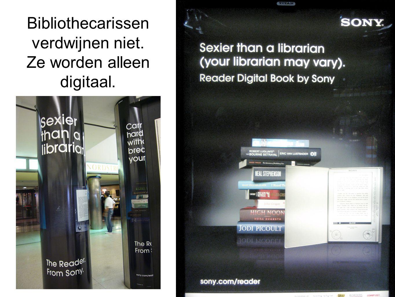 Bibliothecarissen verdwijnen niet. Ze worden alleen digitaal.