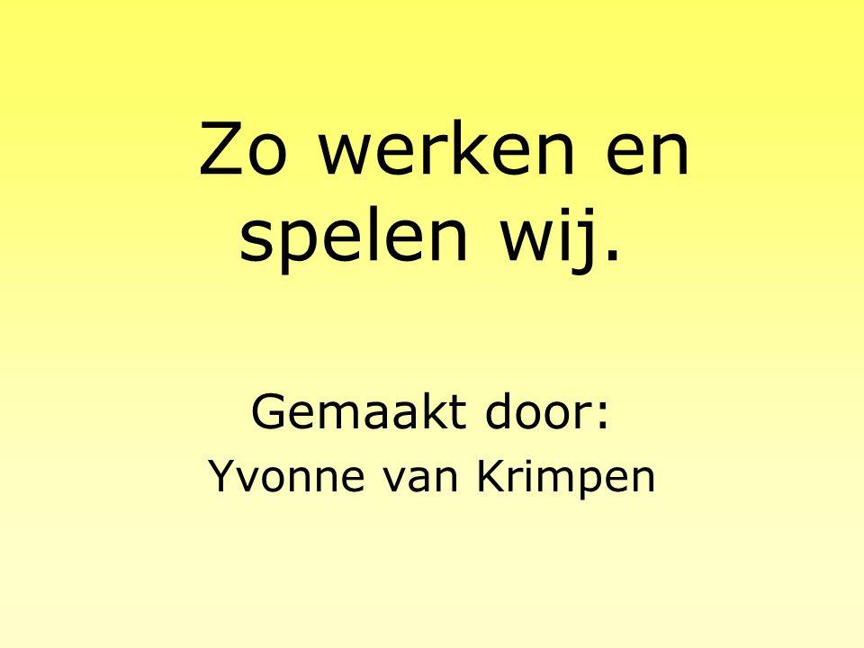 2005 - 2006Groep 1-2 D OBS De Tweesprong Kapelstraat 15 4817 NX Breda Tel: 076 5811575