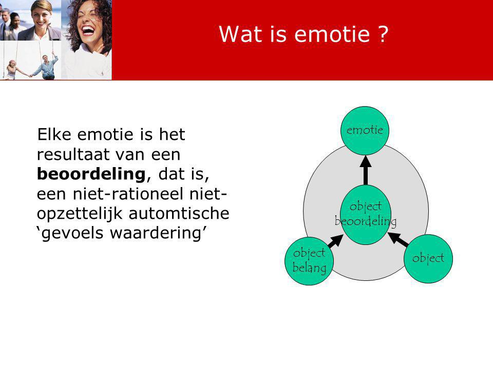 Wat is emotie .