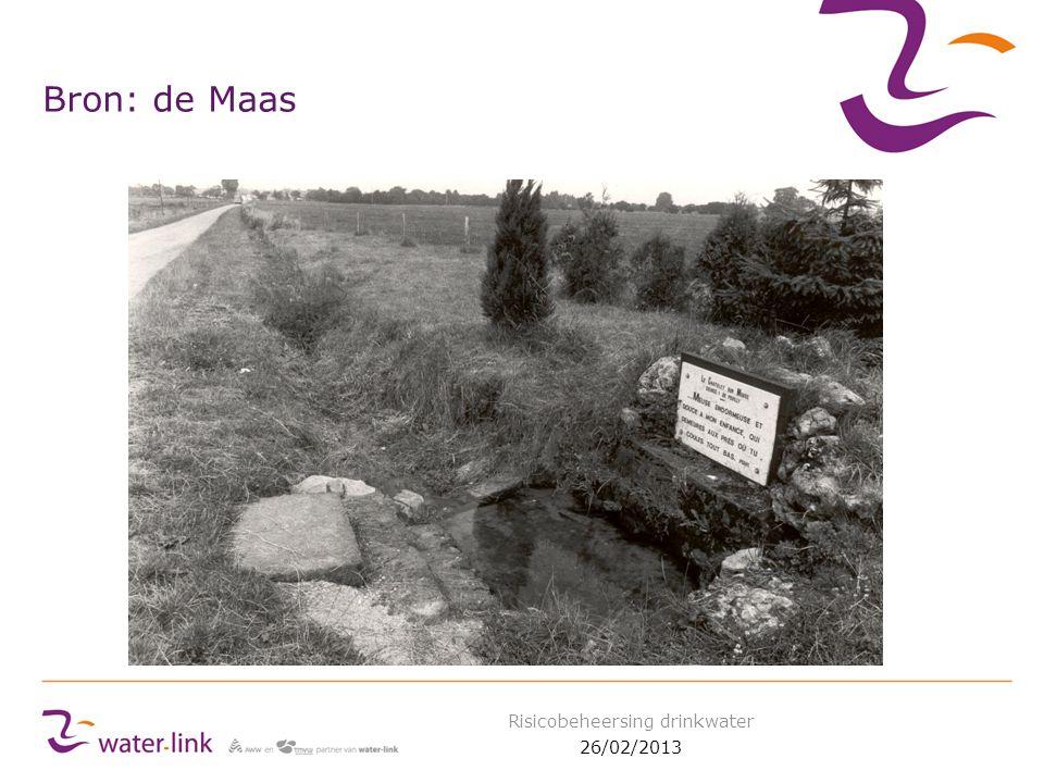 Bron: de Maas 26/02/2013 Risicobeheersing drinkwater