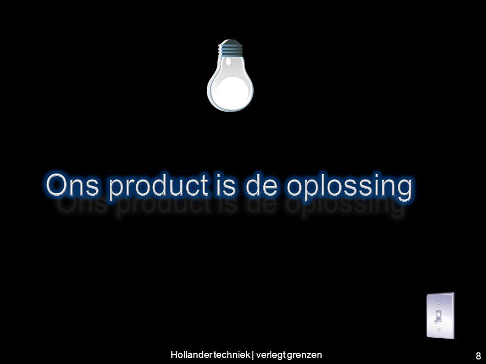 Ons product is de oplossing! 9 Hollander techniek | verlegt grenzen
