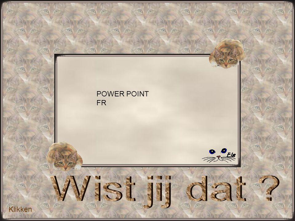 Klikken POWER POINT FR