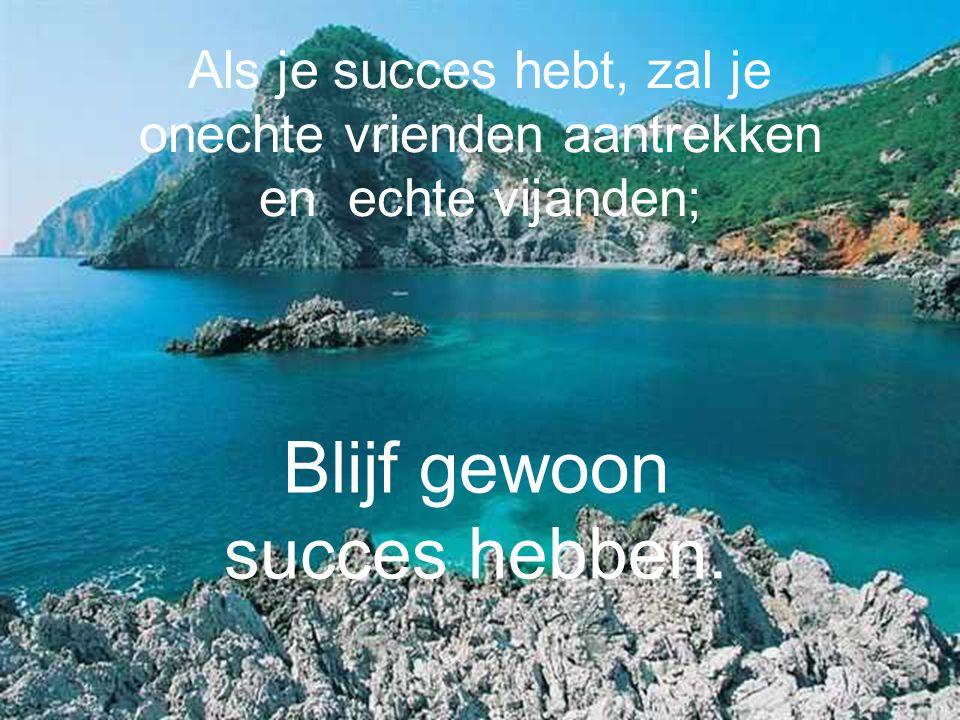 Als je succes hebt, zal je onechte vrienden aantrekken en echte vijanden; Blijf gewoon succes hebben.