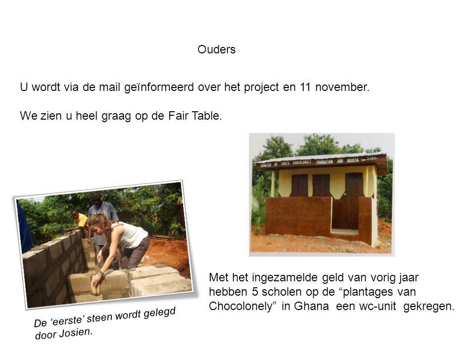 Ouders U wordt via de mail geïnformeerd over het project en 11 november.