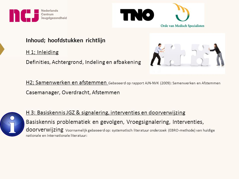 H2 Samenwerken en afstemmen; belangrijkste aanbevelingen.