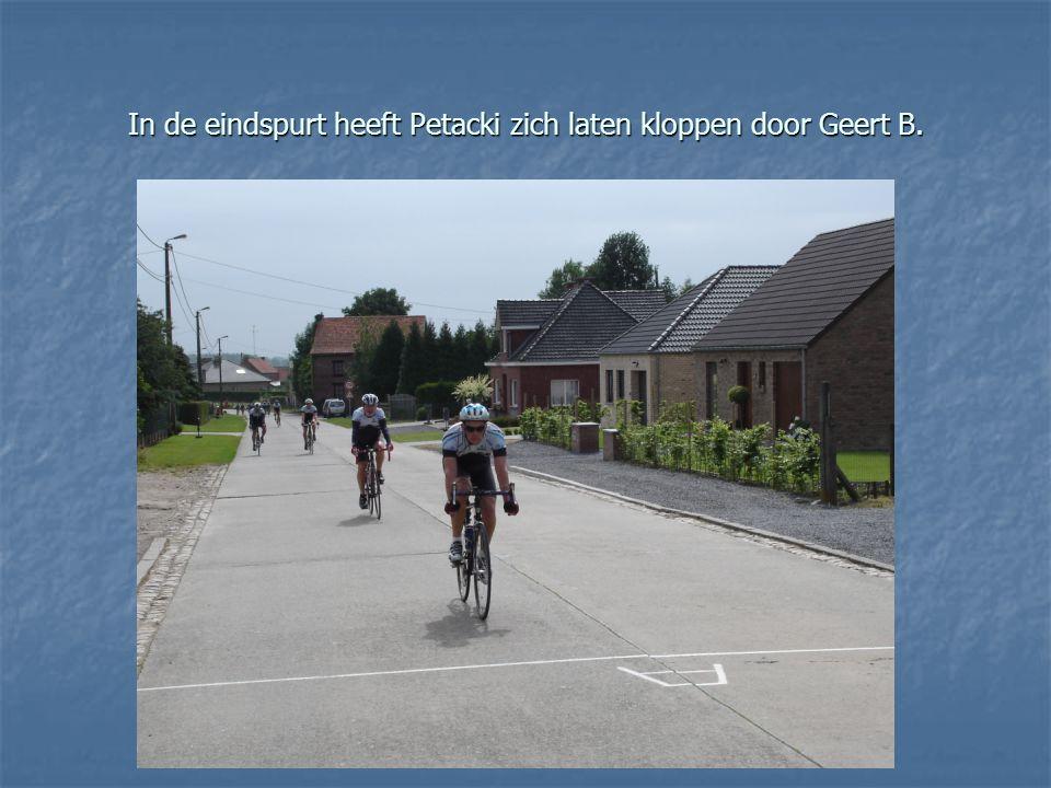 In de eindspurt heeft Petacki zich laten kloppen door Geert B.