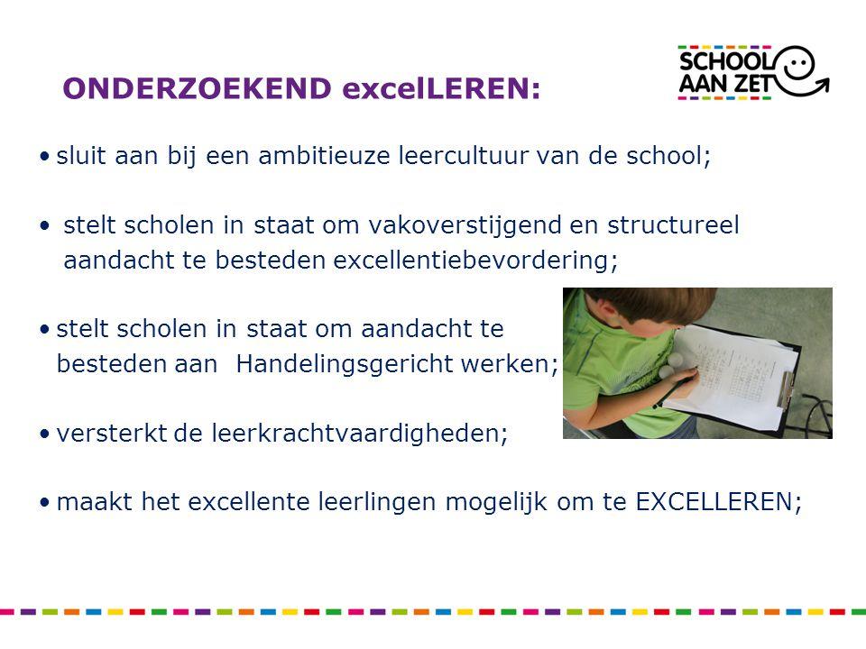 Hoe leren (in potentie) excellente leerlingen.