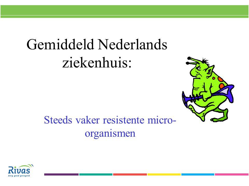 Gemiddeld Nederlands ziekenhuis: Steeds vaker resistente micro- organismen