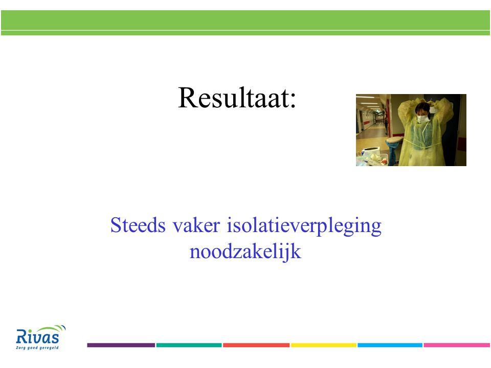 Resultaat: Steeds vaker isolatieverpleging noodzakelijk