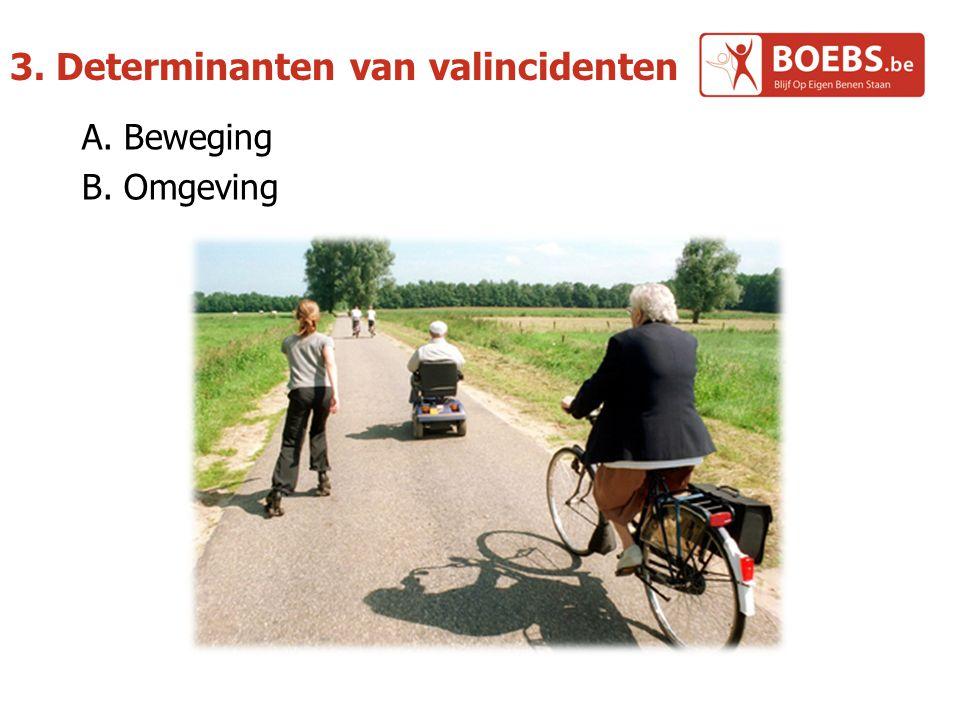 3. Determinanten van valincidenten A. Beweging B. Omgeving