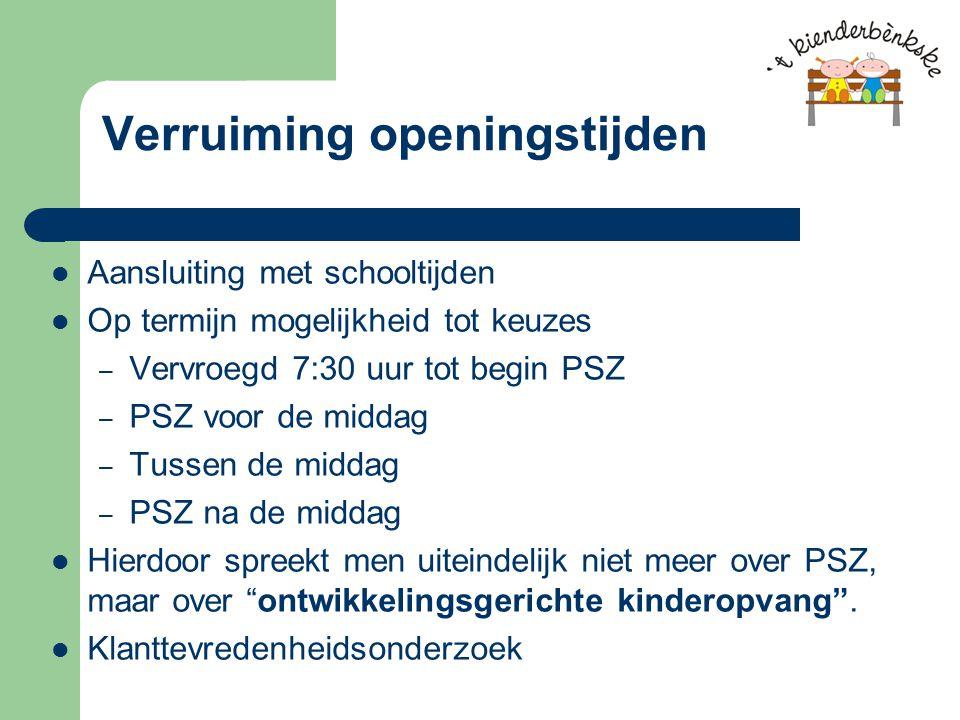 Wet kinderopvang Peuterspeelzalen komen niet in aanmerking voor kinderopvangteruggaaf.