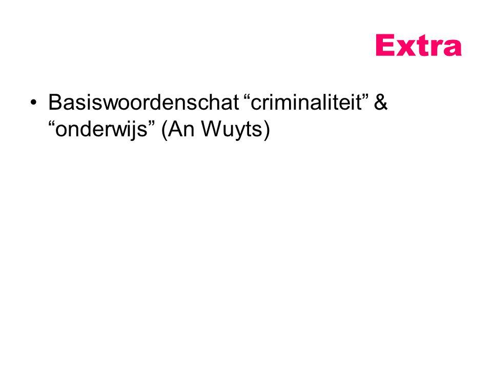 Extra Basiswoordenschat criminaliteit & onderwijs (An Wuyts)