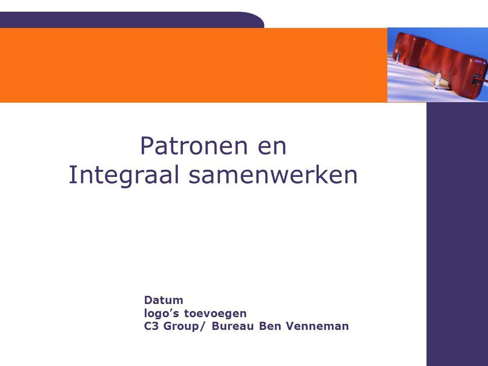 Patronen en Integraal samenwerken Bureau Ben Venneman ©2006 Datum logo's toevoegen C3 Group/ Bureau Ben Venneman
