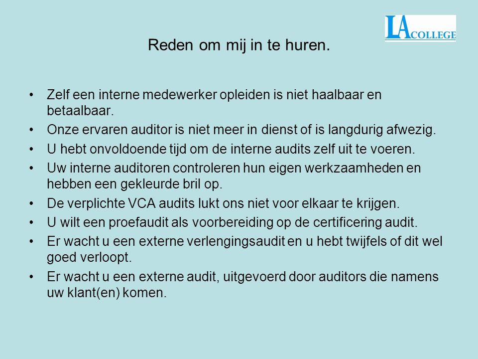 Hallo ik ben Henk Wassen Een ervaren Kwaliteit en Arbo-functionaris. Wat kan ik voor u betekenen? E-mail:info@lacollege.nl Telefoon: 0597-672059