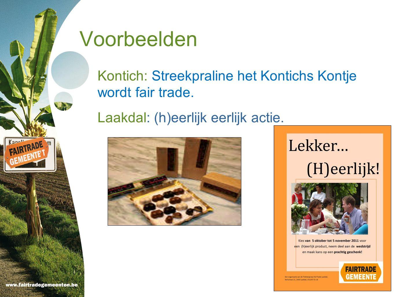 Voorbeelden Kontich: Streekpraline het Kontichs Kontje wordt fair trade.