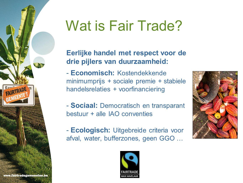 Voorbeelden Anzegem: Spaarkaartenactie tijdens de Week van de Fair Trade.