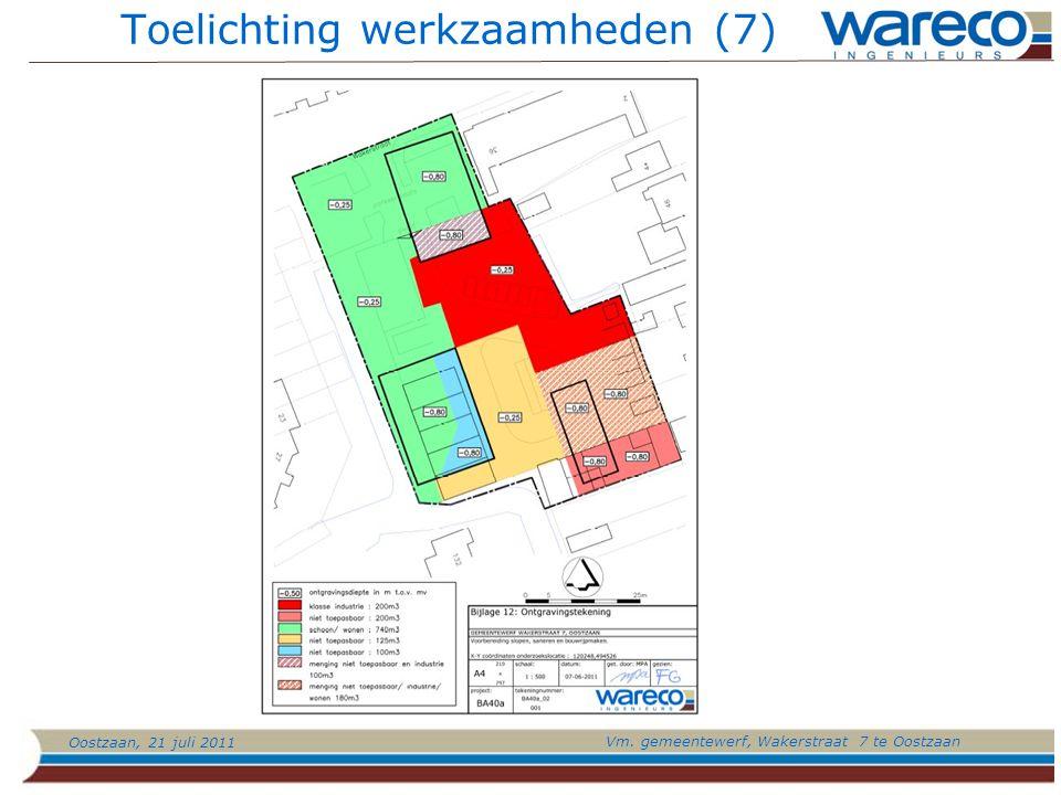 Oostzaan, 21 juli 2011 Vm. gemeentewerf, Wakerstraat 7 te Oostzaan Toelichting werkzaamheden (7)
