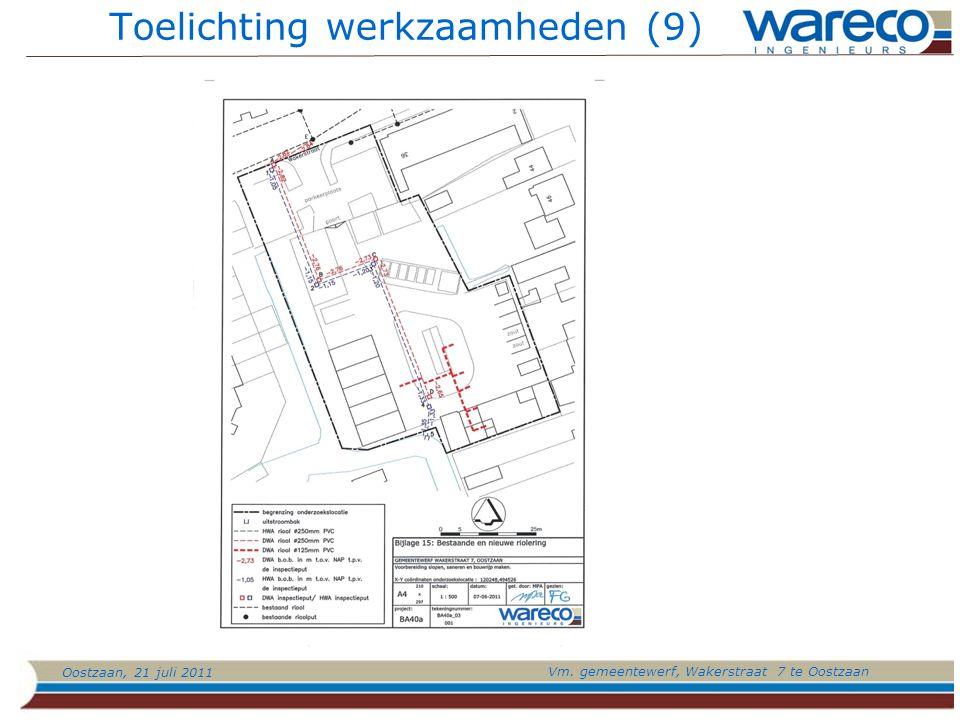 Oostzaan, 21 juli 2011 Vm. gemeentewerf, Wakerstraat 7 te Oostzaan Toelichting werkzaamheden (9)