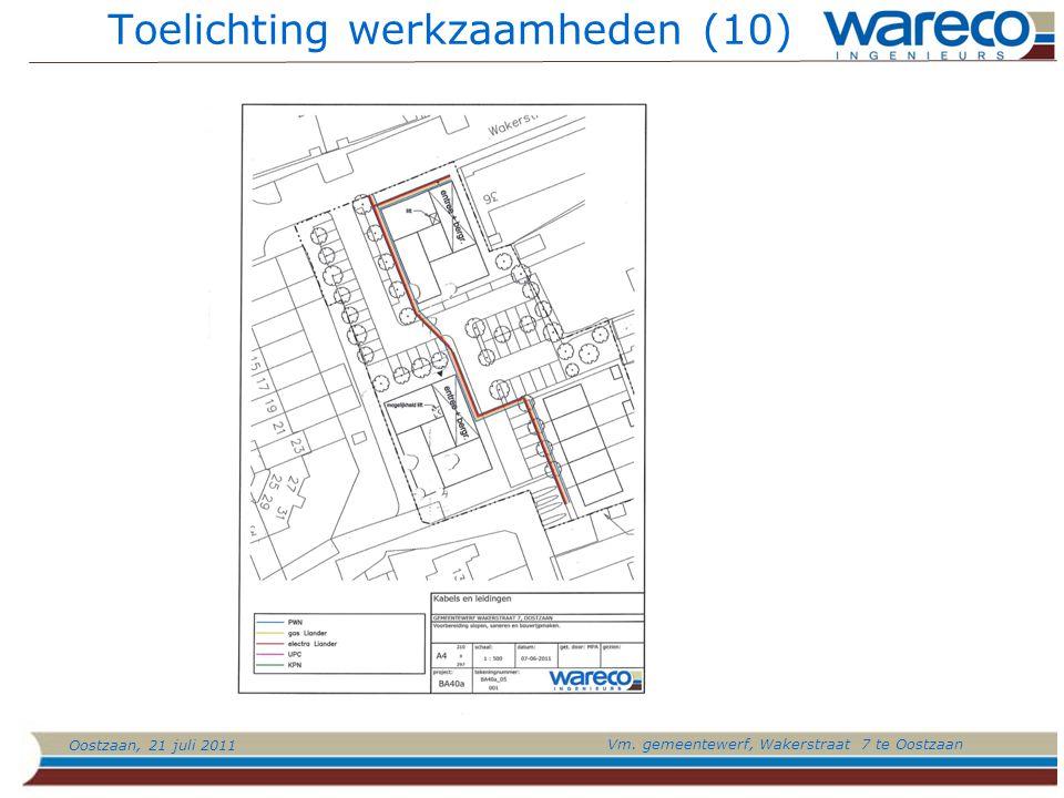 Oostzaan, 21 juli 2011 Vm. gemeentewerf, Wakerstraat 7 te Oostzaan Toelichting werkzaamheden (10)