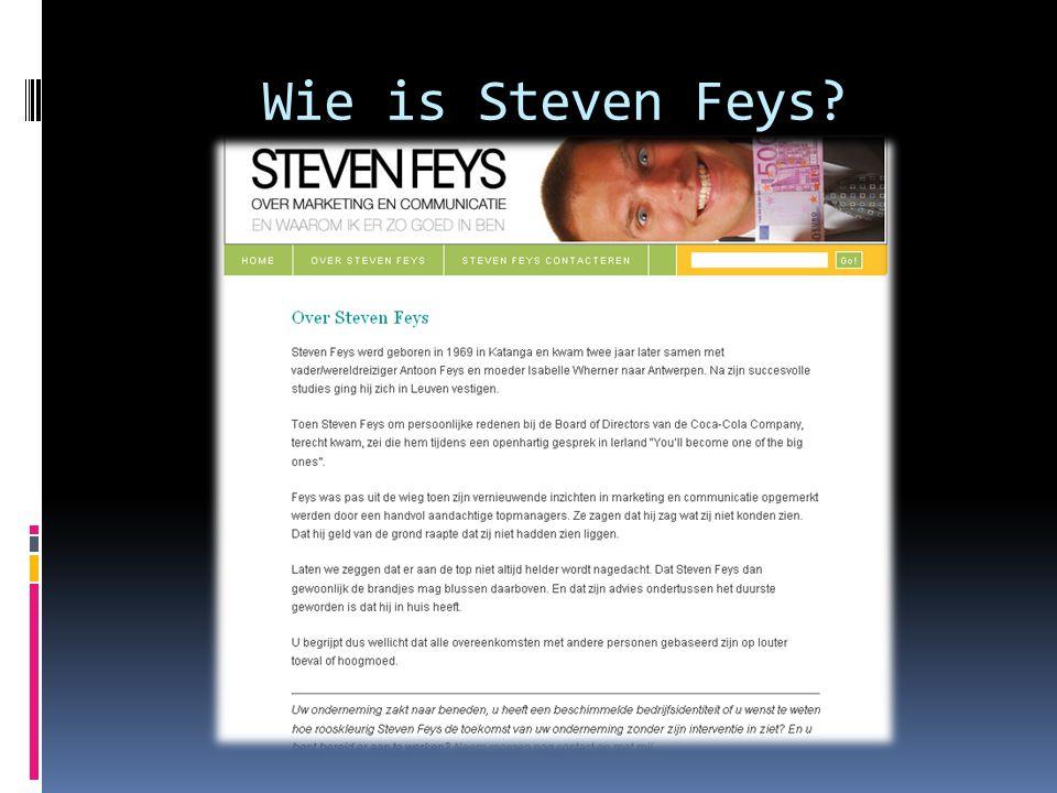 Wie is Steven Feys?