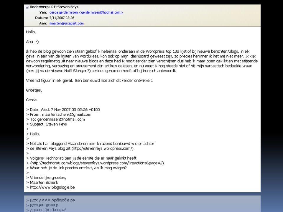 Feys en The White Lodge  Feys past ongegeneerd reacties aan op zijn blog die hem op fouten in zijn teksten wijzen.