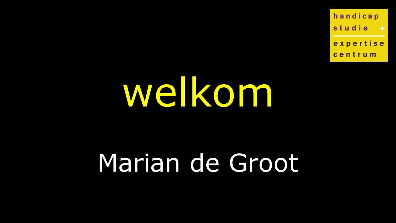Klik om de stijl te bewerken welkom Marian de Groot