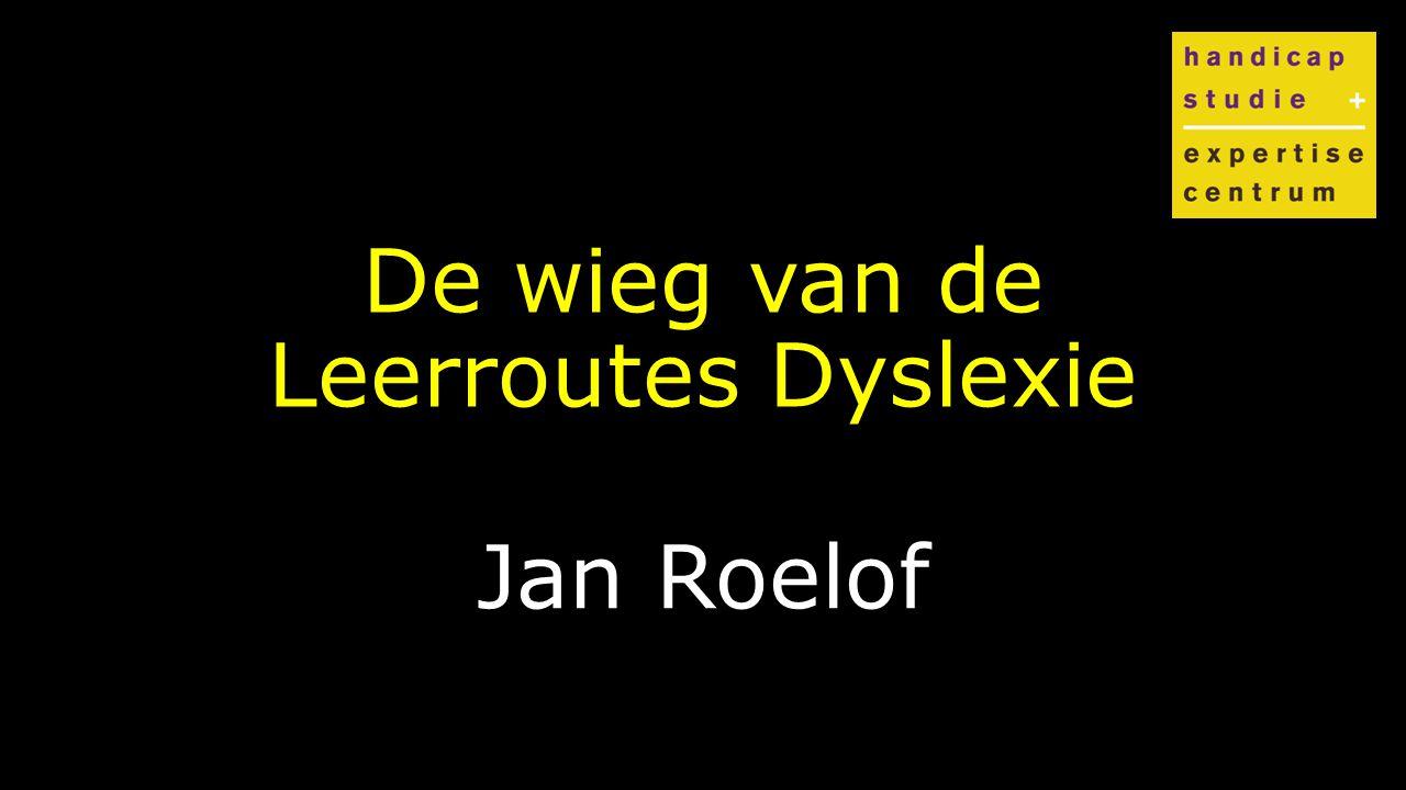 Klik om de stijl te bewerken De wieg van de Leerroutes Dyslexie Jan Roelof