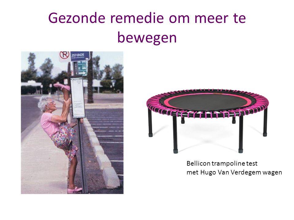 Gezonde remedie om meer te bewegen Bellicon trampoline test met Hugo Van Verdegem wagen