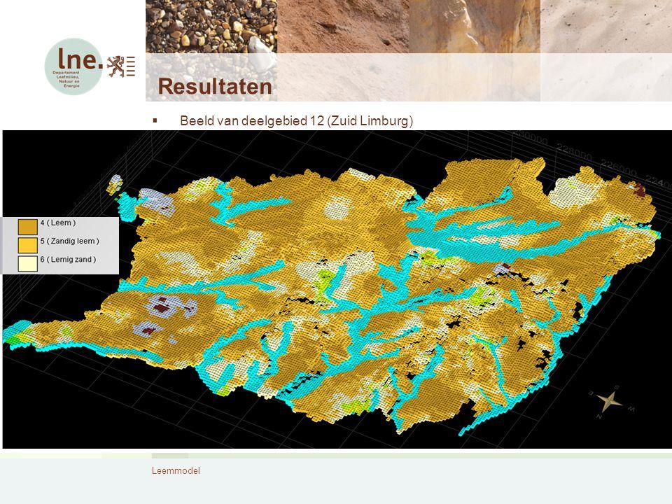 Leemmodel Resultaten  Beeld van deelgebied 12 (Zuid Limburg)
